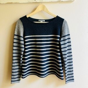 Pure cashmere striped sweater